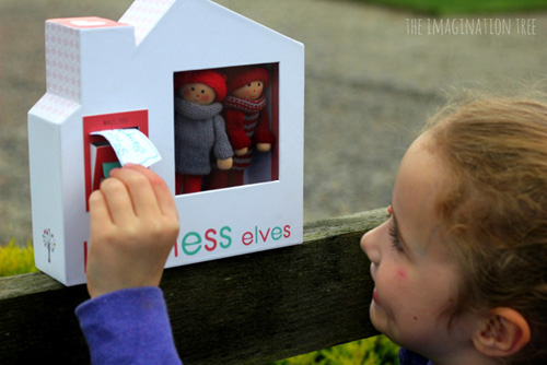 Mailing a Letter to the Kindness Elves (Photo from The Imagination Tree)