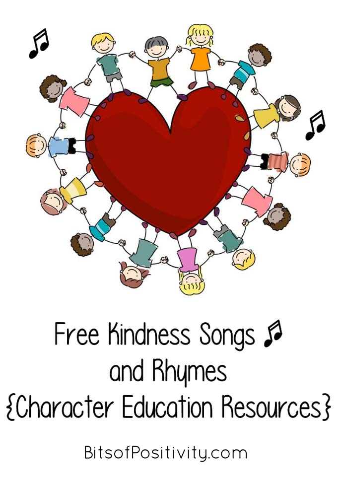 Free Kindness Songs and Rhymes {Character Education Resources}