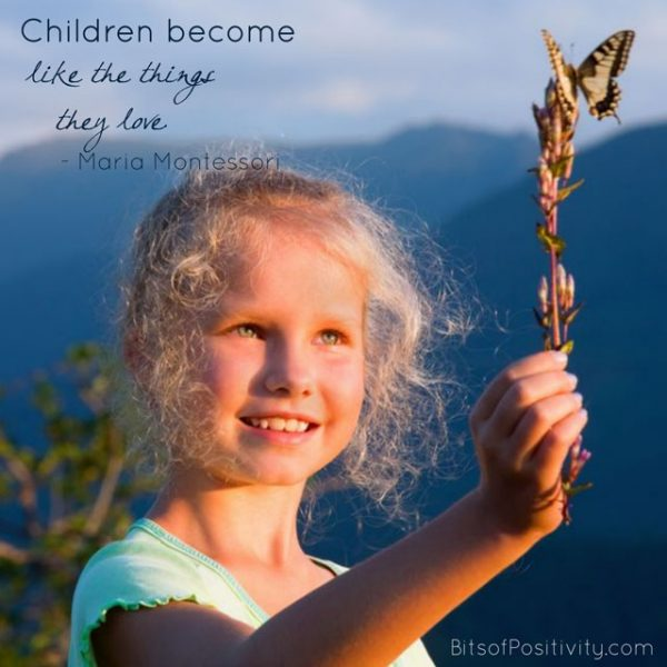 """Children Become Like the Things They Love"" Montessori Word Art Freebie"