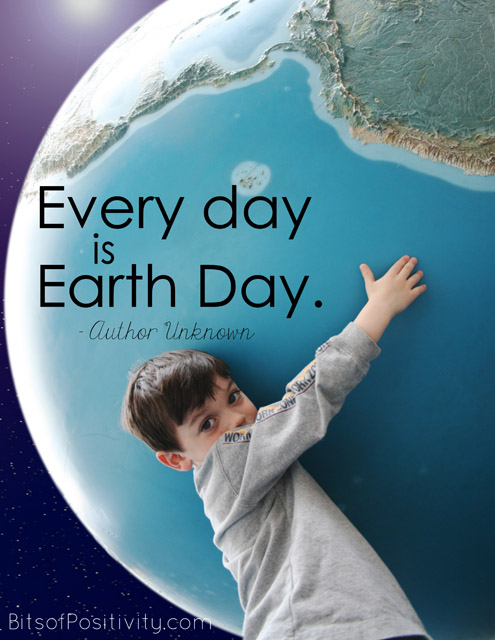 Every Day Is Earth Day Word Art Freebie