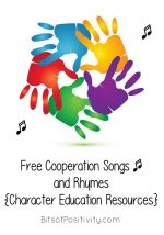 Free Cooperation Songs and Rhymes {Character Education Resources}