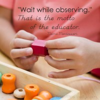 Wait While Observing Montessori Word Art Freebie
