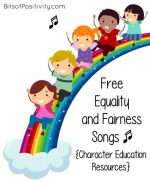 Free Equality and Fairness Songs {Character Education Resources}
