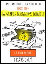 Check out the Amazing Genius Blogger's Toolkit (98% Off)!