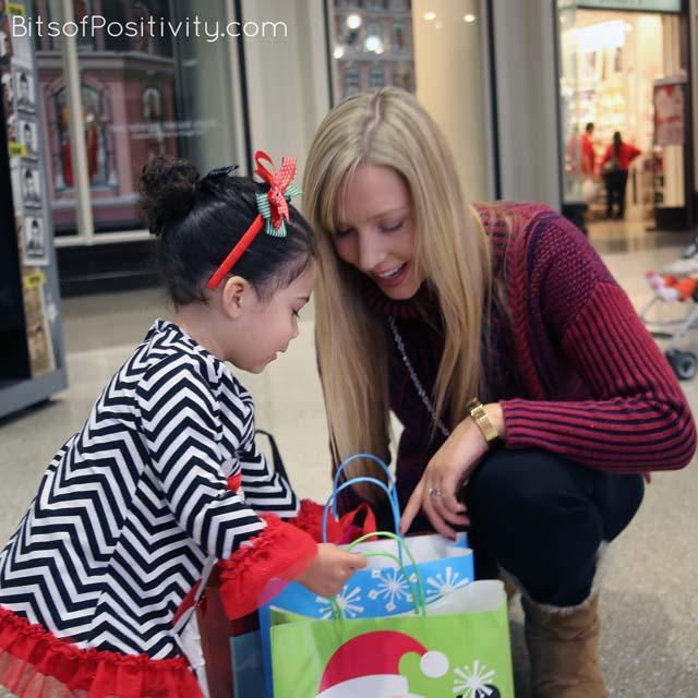 Checking Gifts for the Salvation Army Food and Toy Drive
