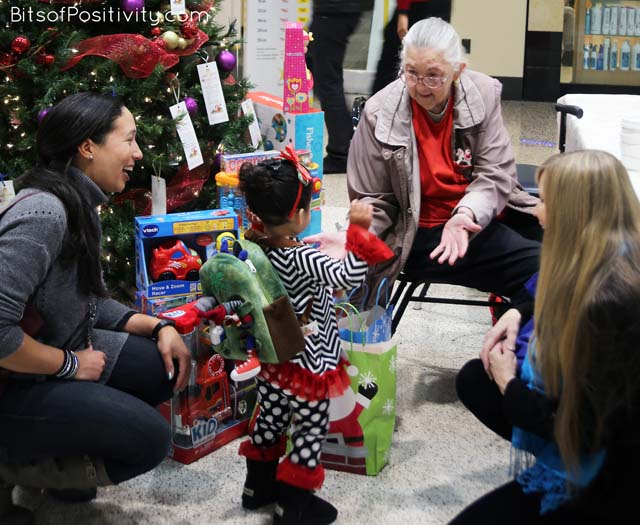Giving Gifts for the Salvation Army Food and Toy Drive