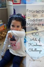 Focusing on Toddler Manners in the 100 Acts of Kindness Challenge