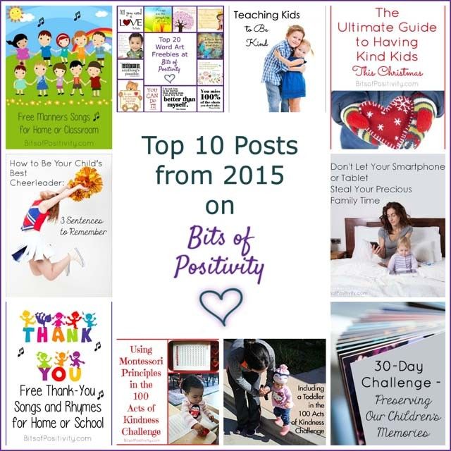 Top 10 Posts from 2015 on Bits of Positivity