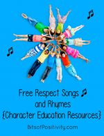 Free Respect Songs and Rhymes {Character Education Resources}