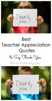 Best Teacher Appreciation Quotes to Say Thank You