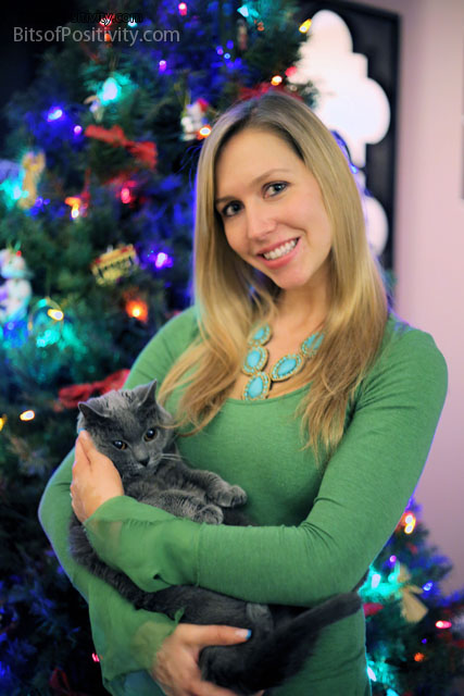 Christina with Caressa in December of 2013