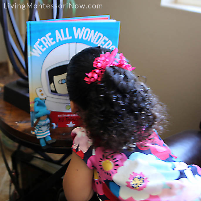 Studying the We're All Wonders Picture Book Cover