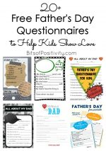 20+ Free Father's Day Questionnaires to Help Kids Show Love