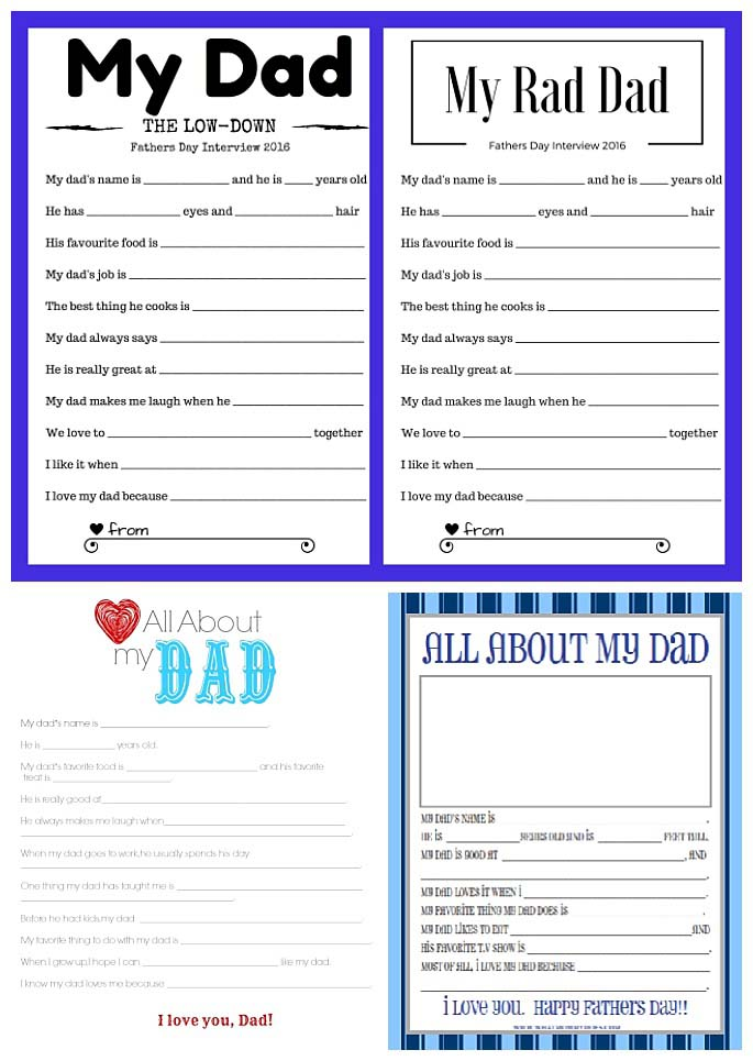 picture about Grandpa Questionnaire Printable identified as 20+ Totally free Fathers Working day Questionnaires in the direction of Assistance Little ones Clearly show Appreciate