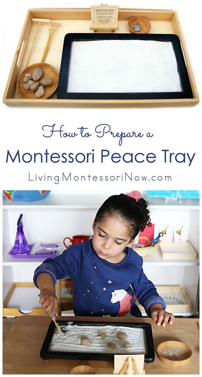 How to Prepare a Montessori Peace Tray