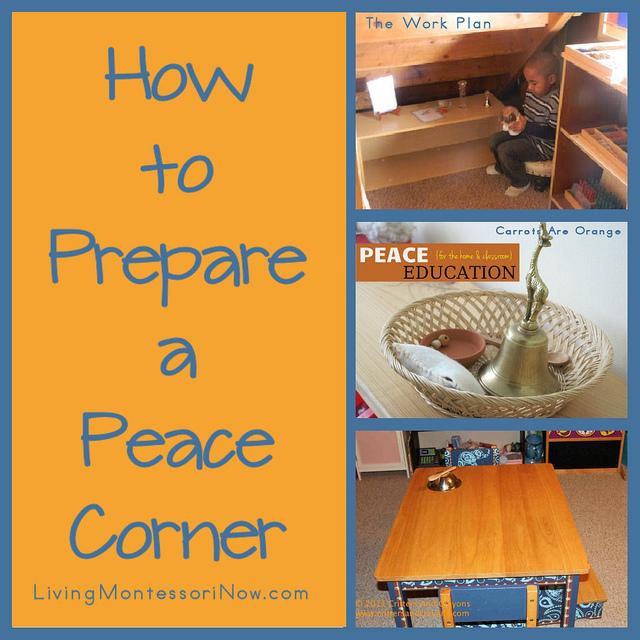 How to Prepare a Peace Corner