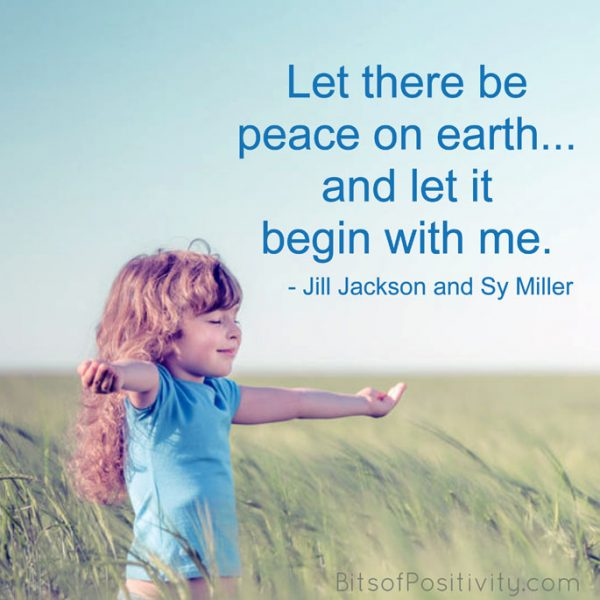 """Let There Be Peace on Earth"" Word Art Freebie + Peace Education Resources"