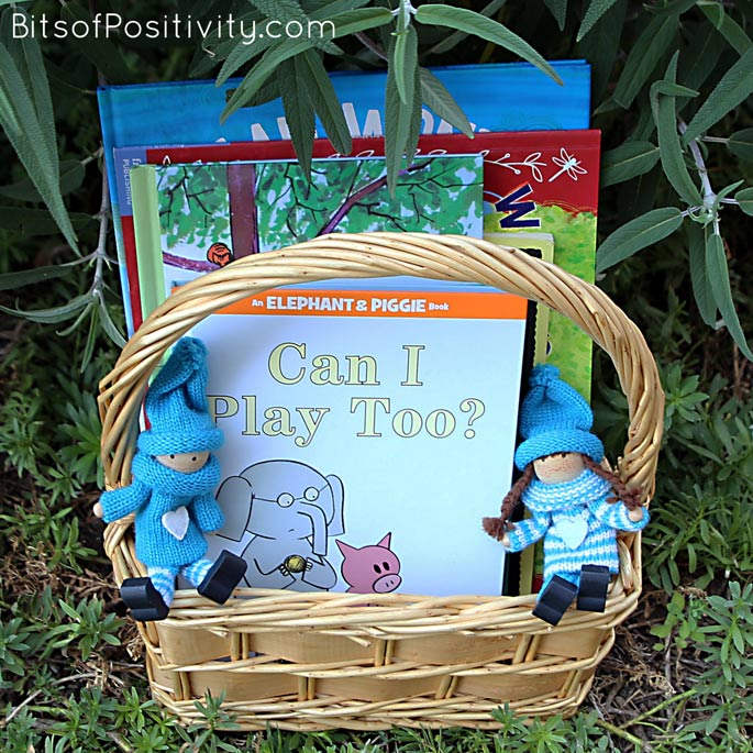 Book Basket for Camp Kindness