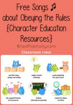 Free Songs about Obeying the Rules {Character Education Resources}