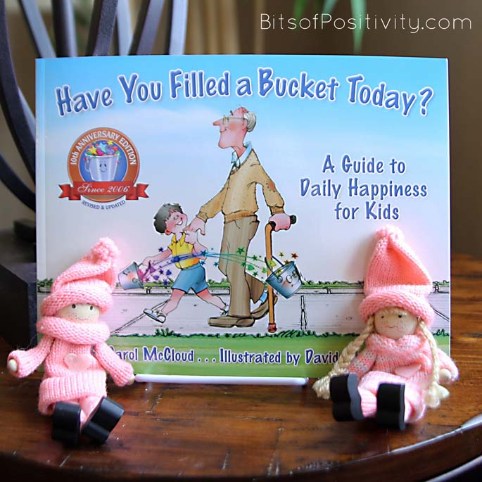 PInk Kindness Elves with Have You Filled a Bucket Today?