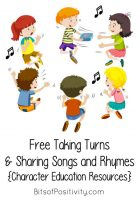 Free Taking Turns and Sharing Songs and Rhymes {Character Education Resources}
