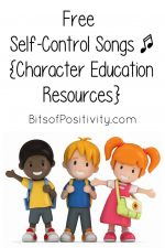 Free Self-Control Songs for Kids {Character Education Resources}