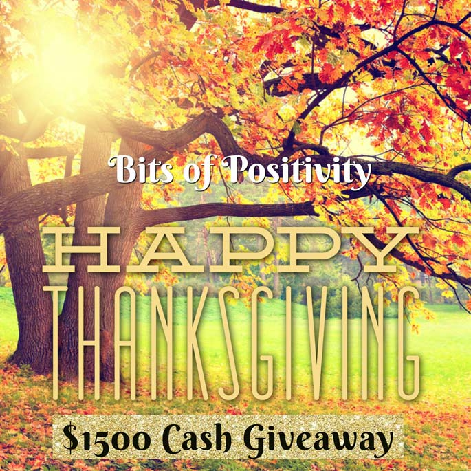 $1500 Thanksgiving Cash Giveaway! WW Ends 11/27