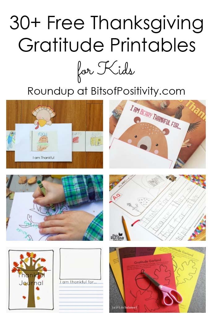 30+ Free Thanksgiving Gratitude Printables for Kids