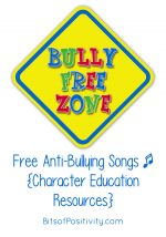 Free Anti-Bullying Songs {Character Education Resources}