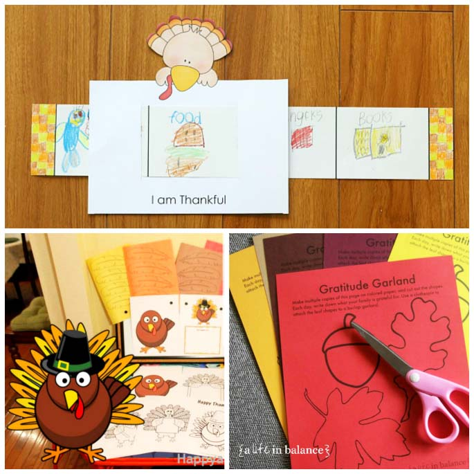 Free Thanksgiving Gratitude Printables for Kids - 1