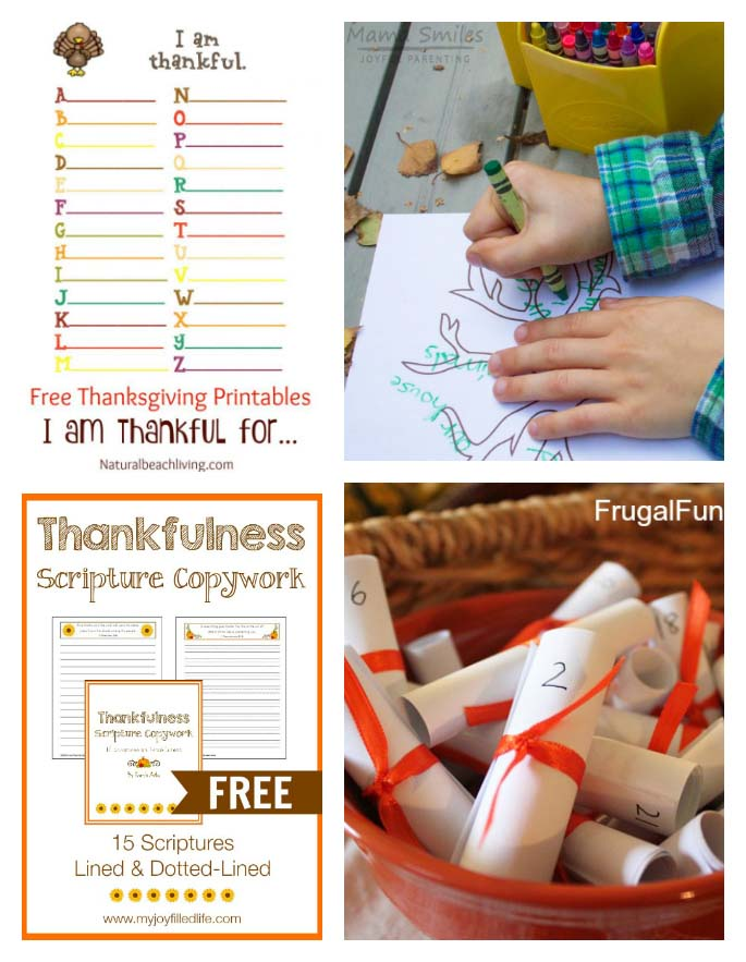 Free Thanksgiving Gratitude Printables for Kids - 2