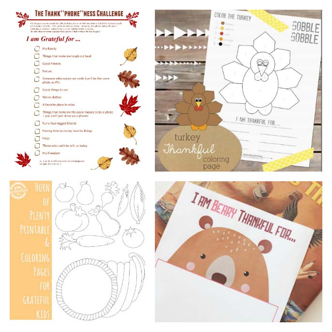 Free Thanksgiving Gratitude Printables for Kids - 3