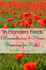 """In Flanders Fields"" {Free Remembrance and Honor Resources for Kids}"