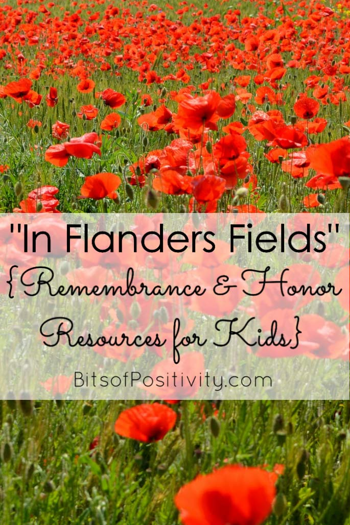 """In Flanders Fields"" {Remembrance and Honor Resources for Kids}"