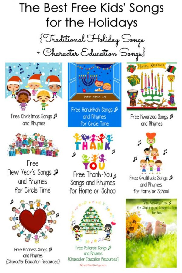 The Best Free Kids' Songs for the Holidays {Traditional Holiday Songs + Character Education Songs}