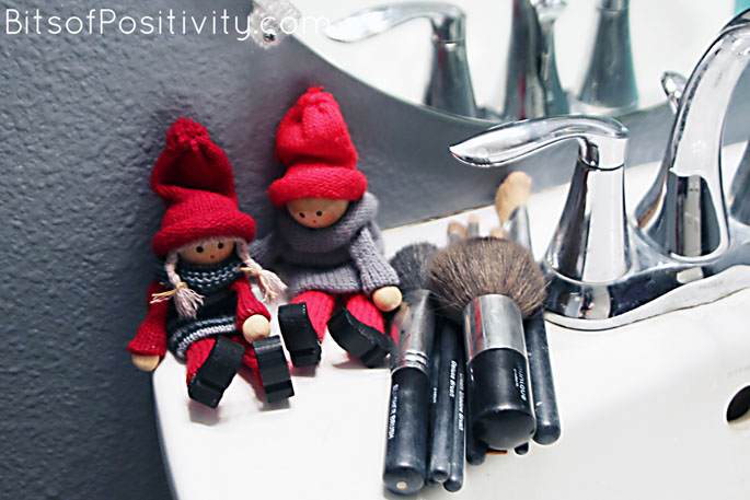 "The Kindness Elves: ""Let's clean Auntie Chrissy's makeup brushes!"""