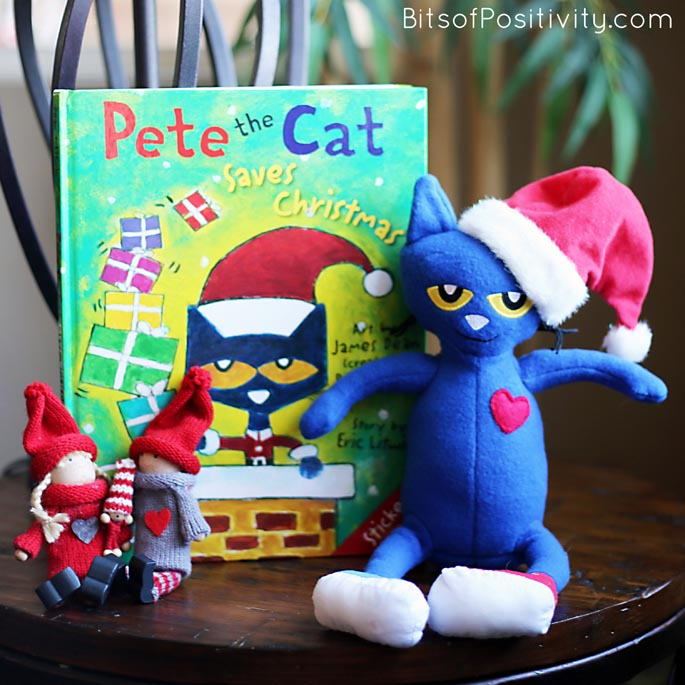 The Kindness Elves and Pete the Cat Encourage Participation in a Food and Toy Drive