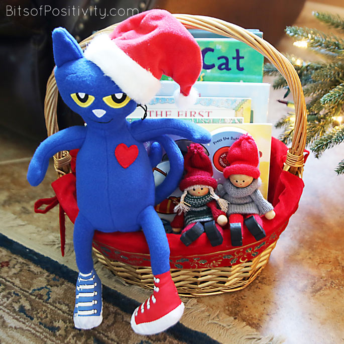"""The Kindness Elves with Pete the Cat: """"Let's get ready for a food and toy drive!"""""""