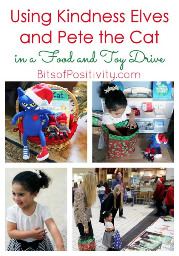 Using Kindness Elves and Pete the Cat in a Food and Toy Drive