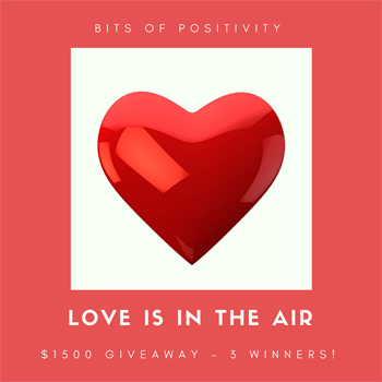 $1500 Love Is in the Air Cash Giveaway! WW Ends 2/27