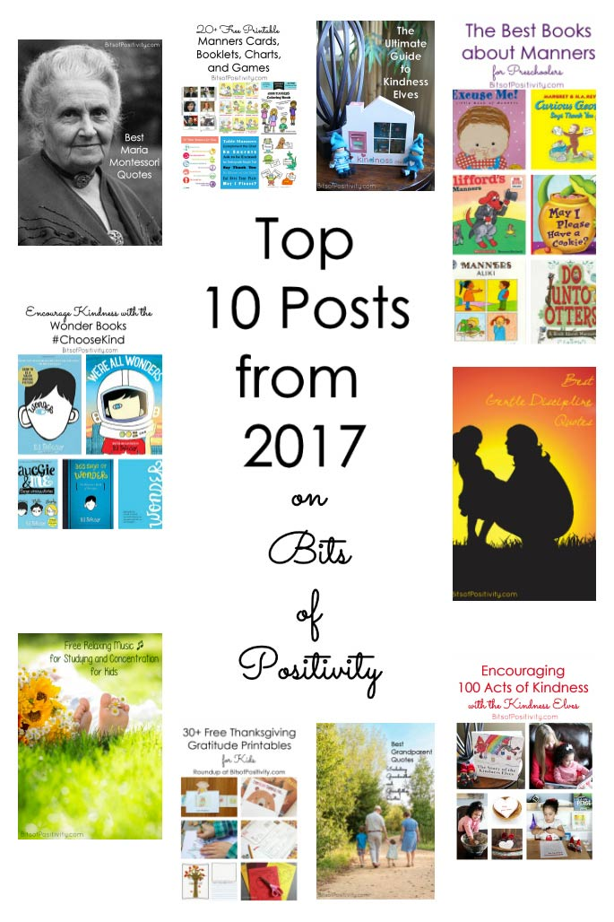 Top 10 Posts from 2017 on Bits of Positivity