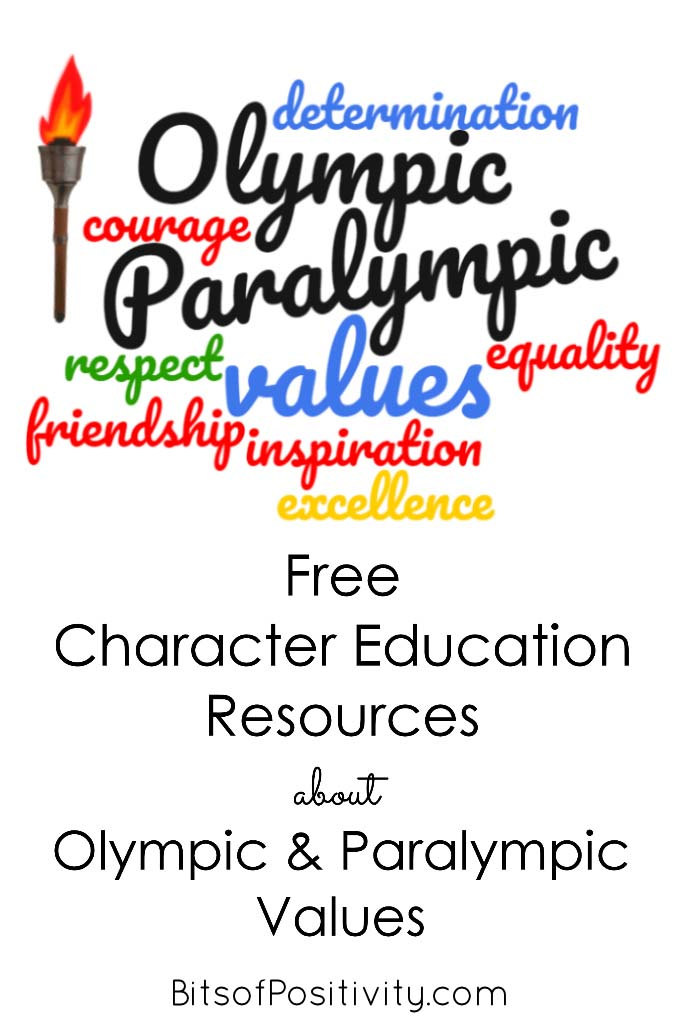 Free Character Education Resources about Olympic and Paralympic Values