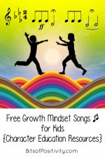 Free Growth Mindset Songs for Kids {Character Education Resources}