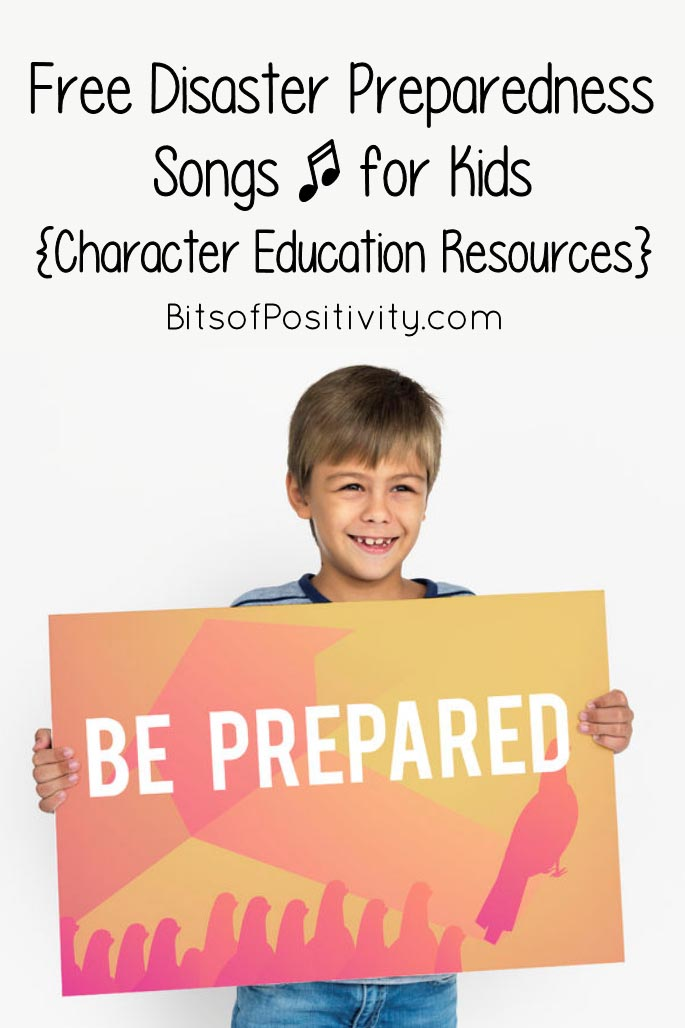 Free Disaster Preparedness Songs for Kids {Character Education Resources}