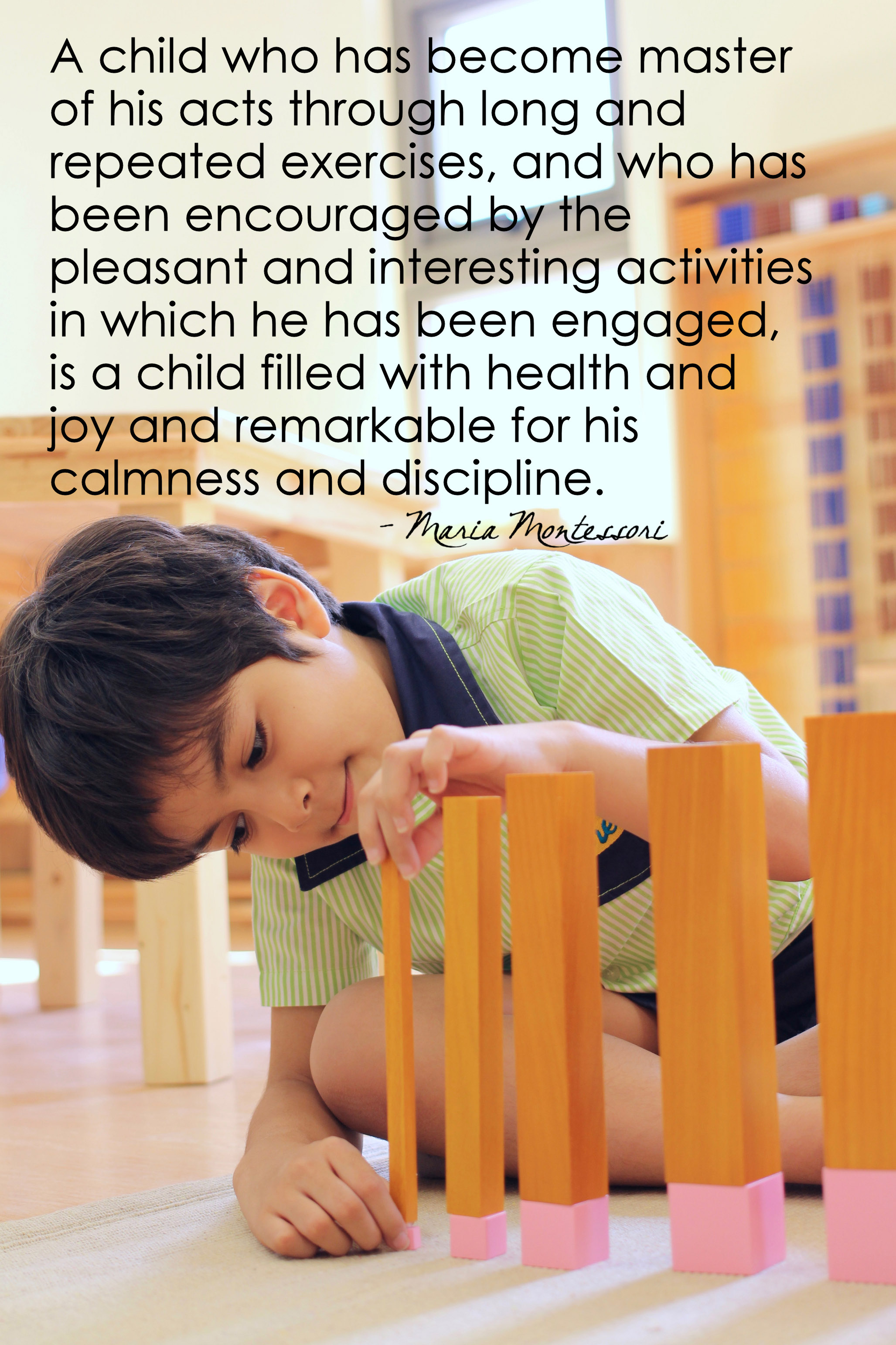 A Child Who Has Become Master Of His Acts Montessori Word