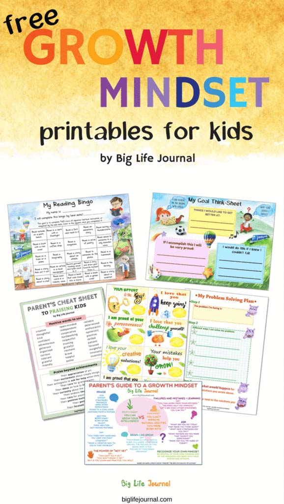 Free Growth Mindset Printables for Kids from Big Life Journal