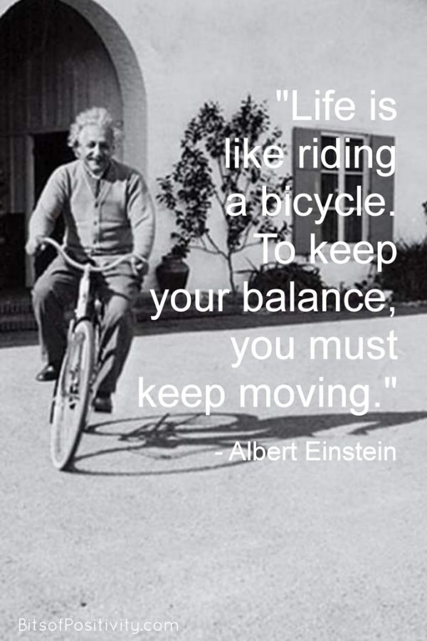 """""""Life Is Like Riding a Bicycle"""" Albert Einstein Word Art Freebie {Growth Mindset Quote}"""