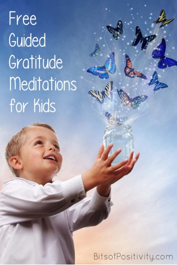 Free Guided Gratitude Meditations for Kids {Mindfulness Resources}