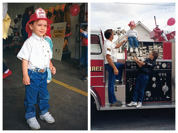 Learning About Fire Safety at the Fire Station Open House in 1988