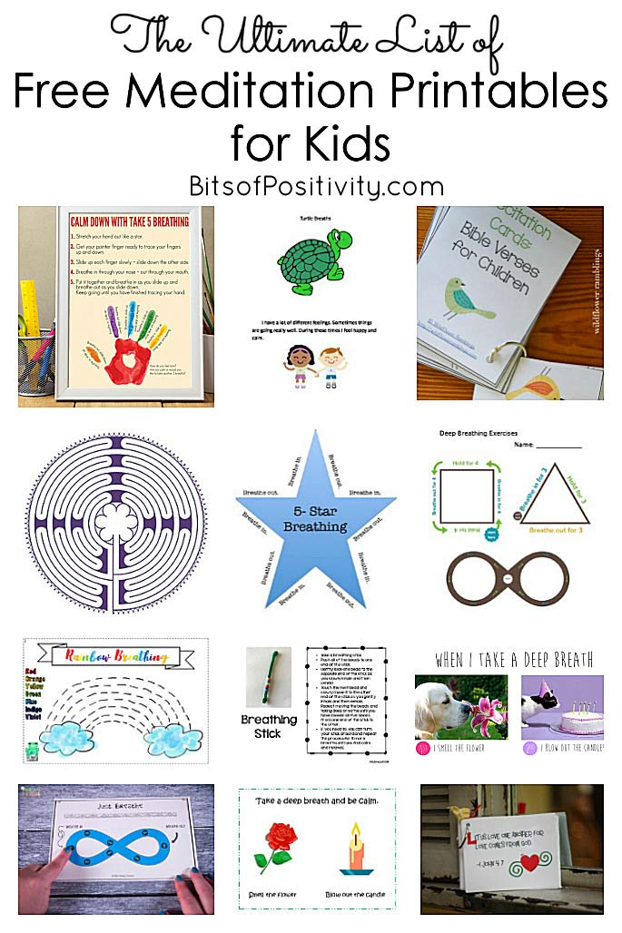 The Ultimate List of Free Meditation Printables for Kids ...
